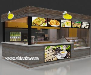 Coffee kiosk & outdoor fast food kiosk design for sale