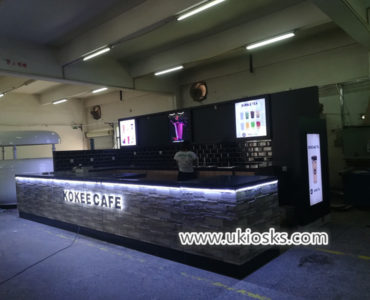 America popular bubble tea kiosk design with good price