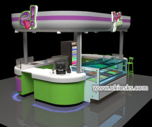 fresh soft ice cream kiosk design with good price