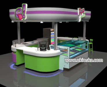 fresh soft ice cream kiosk design with good price