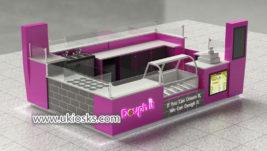 United stated popular ice cream kiosk design for sale
