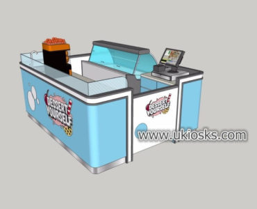 Mini dessert display kiosk supplier with good price