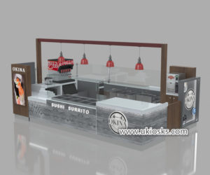 Best selling fast food sushi kiosk export to United stated