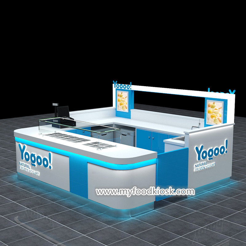 Attractive frozen yogurt kiosk export to United Kingdom
