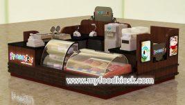 High quality ice cream kiosk design for shopping mall