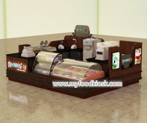 High quality ice cream kiosk design for shopping mall