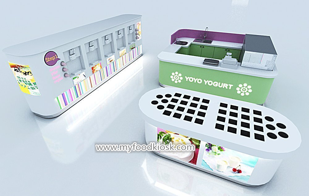 High quality frozen yogurt shop with topping bar design