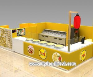 100% customized commercial mall food crepe kiosk design for sale